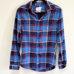 Goodfellow & Co flannel button down shirt size S